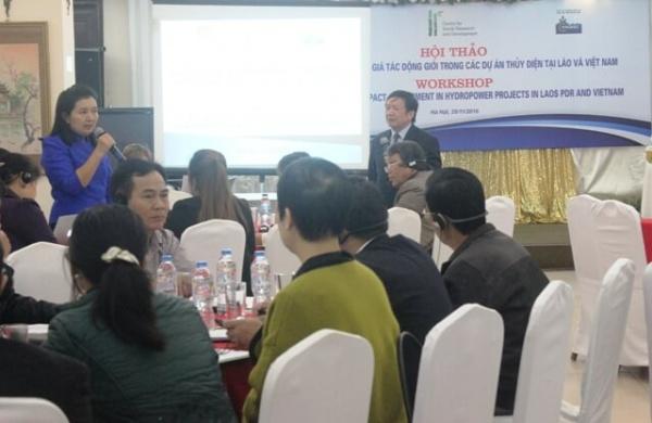 """""""Chia sẻ kết quả đánh giá tác động giới trong các dự án thủy điện tại Lào và Việt Nam"""""""