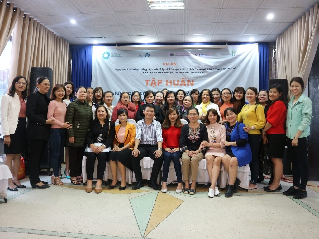Raising awareness about roles of women on disaster resilience.