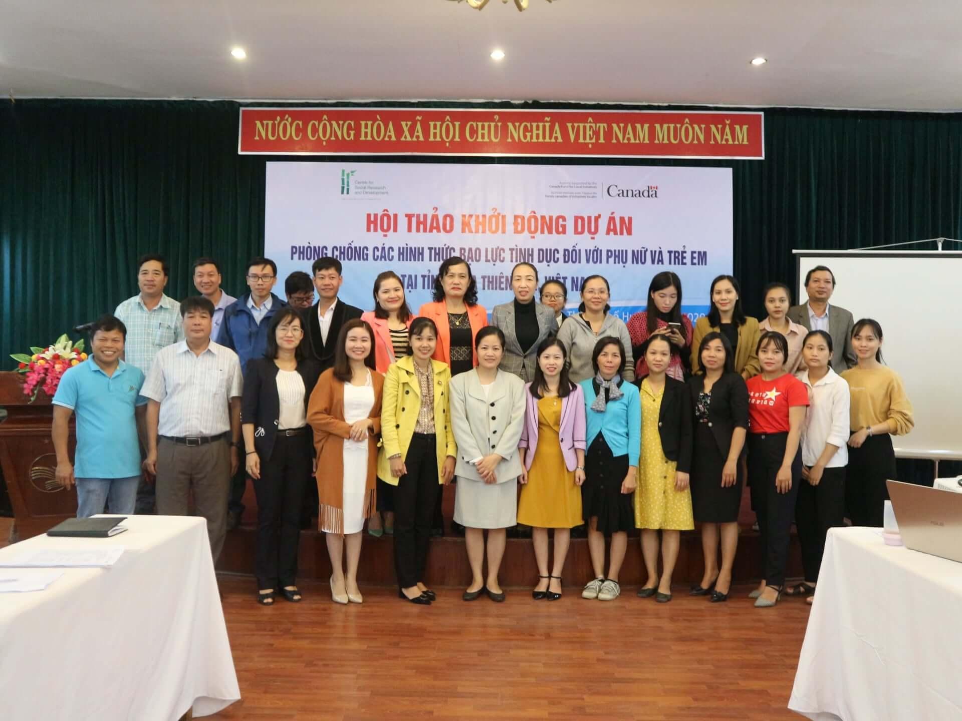 Triển khai dự án về chủ đề Bạo lực Giới tại tỉnh Thừa Thiên Huế